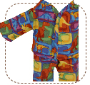 Dinosaur Pajamas for Earth Friend Doll