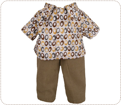 Cordoval Shirt and Pants for 14 inch Earth friend doll