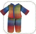 Plaid Flannel Pajamas for Earth Friend Dolls
