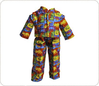 dinosaur pajamas for big Earth Friend doll