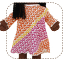 ALoha nightgown doll clothes sccessories pajamas nightgown pink earth friend