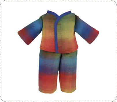 Plaid Flannel Pajamas for Earth Friend Dolls